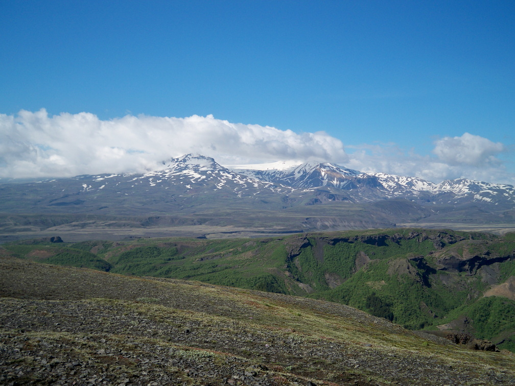Þórsmörk - Tindfjallajökull glacier from the top of the Réttarfell peak