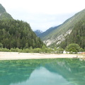 The artificial lake in Kranjska Gora