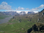 Þórsmörk - Myrdalsjökull glacier from the top of the Réttarfell peak